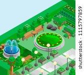 isometric game background ... | Shutterstock .eps vector #1115797859