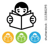 reading icon | Shutterstock .eps vector #111580295