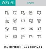 cinema icons. set of twenty... | Shutterstock .eps vector #1115804261