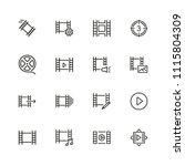 filmstrip icons. set of  line... | Shutterstock .eps vector #1115804309