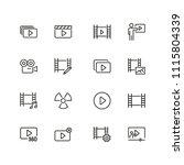 cinema icons. set of  line... | Shutterstock .eps vector #1115804339