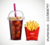 fast food realistic composition ...   Shutterstock .eps vector #1115808797