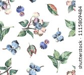 Seamless Pattern With Blueberr...