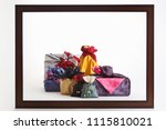 korean traditional wrapping... | Shutterstock . vector #1115810021