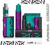 vape devices icon set and e... | Shutterstock .eps vector #1115812127
