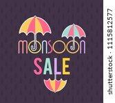happy monsoon season sale...   Shutterstock .eps vector #1115812577