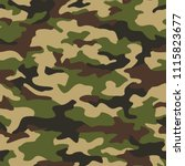 texture military camouflage... | Shutterstock .eps vector #1115823677