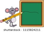 cute mouse teacher with school... | Shutterstock .eps vector #1115824211
