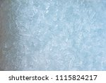 close up ice tube in the bucket.... | Shutterstock . vector #1115824217