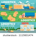 retail logistics and... | Shutterstock . vector #1115831474