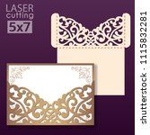 laser and die cut pocket... | Shutterstock .eps vector #1115832281