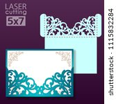 laser and die cut pocket... | Shutterstock .eps vector #1115832284
