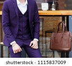 part of the body. fashion man.... | Shutterstock . vector #1115837009