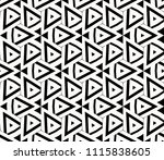 seamless pattern with symmetric ... | Shutterstock .eps vector #1115838605