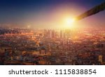 apocalyptic dramatic background ... | Shutterstock . vector #1115838854