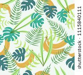 seamless pattern with palm and... | Shutterstock .eps vector #1115840111