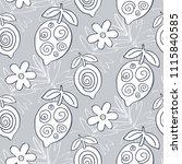 tropical lemon fruits seamless... | Shutterstock .eps vector #1115840585