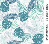 tropical background with palm... | Shutterstock .eps vector #1115841809