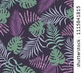 tropical background with palm... | Shutterstock .eps vector #1115841815