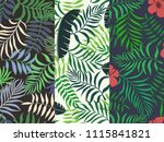 set of three seamless floral... | Shutterstock .eps vector #1115841821