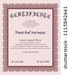 red certificate diploma or... | Shutterstock .eps vector #1115842661