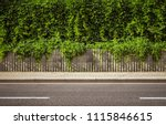 empty city road background with ... | Shutterstock . vector #1115846615
