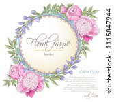 vector delicate invitation with ... | Shutterstock .eps vector #1115847944