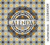 calendar arabesque badge.... | Shutterstock .eps vector #1115849309