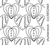 decorative hearts. black and... | Shutterstock .eps vector #1115852465
