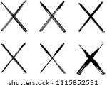 x marks .two crossed vector... | Shutterstock .eps vector #1115852531