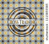 cross training arabesque emblem.... | Shutterstock .eps vector #1115855585