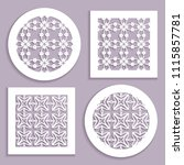 templates for laser cutting ... | Shutterstock .eps vector #1115857781