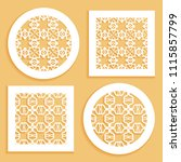 templates for laser cutting ... | Shutterstock .eps vector #1115857799