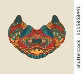 zentangle bat for tattoo in... | Shutterstock .eps vector #1115858441