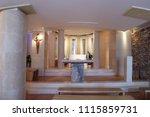 blato  croatia   march 22 ... | Shutterstock . vector #1115859731