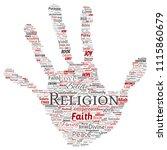 vector conceptual religion  god ...   Shutterstock .eps vector #1115860679