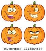 pumpkin vegetables cartoon...   Shutterstock . vector #1115864684