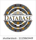 database arabesque badge.... | Shutterstock .eps vector #1115865449