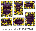 wedding ceremony celebration... | Shutterstock .eps vector #1115867249