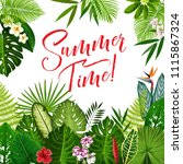 summer time season poster with... | Shutterstock .eps vector #1115867324