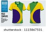 brazil team polo t shirt sport...   Shutterstock .eps vector #1115867531