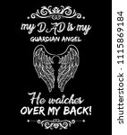 my dad is my guardian angel he... | Shutterstock .eps vector #1115869184