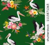 tropical nature seamless... | Shutterstock .eps vector #1115871365