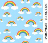 sky pattern with colorful... | Shutterstock . vector #1115871521