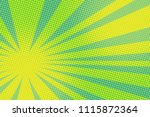 green yellow pop art background.... | Shutterstock .eps vector #1115872364