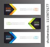horizontal advertising banner....   Shutterstock .eps vector #1115873177
