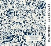 khohloma style floral pattern.... | Shutterstock .eps vector #1115873255