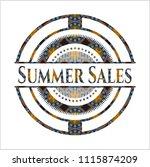 summer sales arabic badge... | Shutterstock .eps vector #1115874209