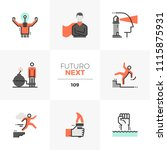modern flat icons set of... | Shutterstock .eps vector #1115875931