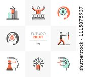 modern flat icons set of... | Shutterstock .eps vector #1115875937